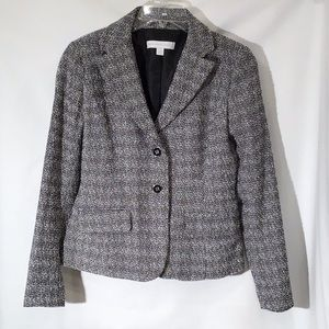 New York & Co. Black/White Marled Blazer
